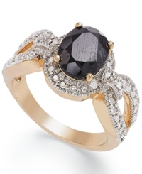Victoria Townsend 18K Gold Over Sterling Silver Midnight Sapphire 2 1 10 Ct. T.W. And Diamond Accent Ring