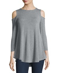Neiman Marcus Scoop Nk 3 4 Slv Cold Should Light Gray