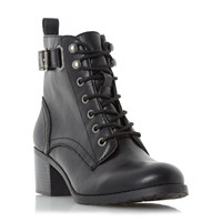 Head Over Heels Priya Ankle Strap Buckle Boots Black
