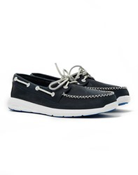 Sperry Sojourn 2 Eye Leather Boat Shoe Navy