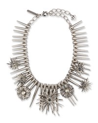 Oscar De La Renta Celestial Star Statement Necklace Gray