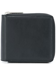 Yohji Yamamoto Compact All Around Zip Wallet Black