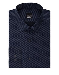 William Rast Diamond Patterned Fashion Shirt Navy