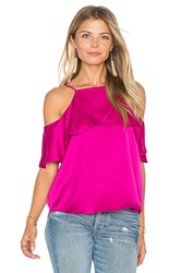 Eight Sixty Ruffle Detail Tank Fuchsia