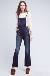 Anthropologie Mother Swooner Weekender Flared Overalls Denim Dark