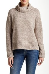 Trovata Turtleneck Wool Blend Sweater Brown
