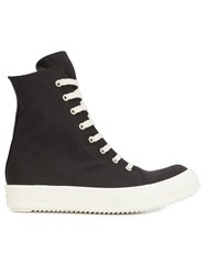 Rick Owens Drkshdw Vegan Hi Top Sneakers Black