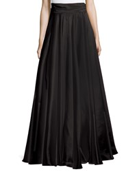 Milly Bow Back Silk Maxi Skirt Black