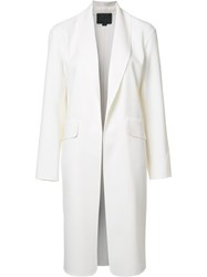 Alexander Wang Shawl Collar Coat White