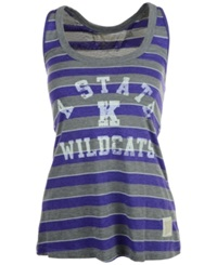 Retro Brand Women's Kansas State Wildcats Racerback Tank Gray Purple