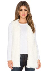 Bishop Young Faux Fur Vest White