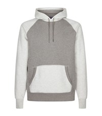 Ralph Lauren Purple Label Colour Block Hoodie Grey