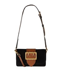 Burberry Shoes And Accessories Suede Buckle Bag Female Black