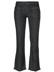The Seafarer Frayed Flared Jeans Women Cotton Polyester Spandex Elastane Tencel 26 Grey