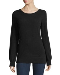 Christopher Fischer Cashmere Lace Up V Neck Sweater Black