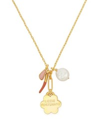 Lizzie Fortunato Mariner Charm Gold Plated Necklace Blue