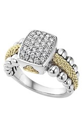 Women's Lagos Diamond Caviar Square Ring