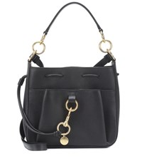 See By Chloe Tony Small Leather Bucket Bag Black