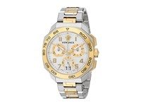 Versace Dylos Chrono Vqc03 0015 Stainless Steel Yellow Gold
