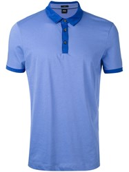 Hugo Boss Contrast Polo Shirt Men Cotton Xxxl Blue