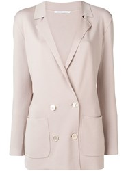 Agnona Double Breasted Jacket Neutrals