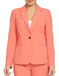Chaus Long Sleeve One Button Blazer Coral Voyage