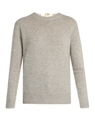 Joseph Round Neck Cashmere Sweater Light Grey