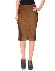 Manila Grace Denim Denim Skirts Brown