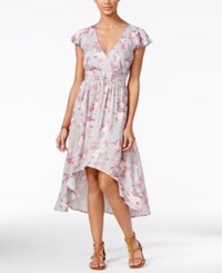 One Hart Juniors' Printed High Low A Line Dress Only At Macy's Printed Floral