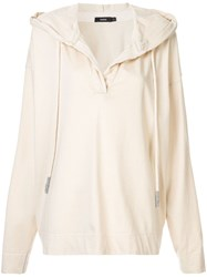 Bassike Cropped Hoodie Neutrals
