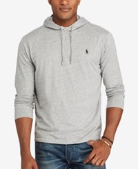 Polo Ralph Lauren Men's Big And Tall Jersey Hoodie Gray