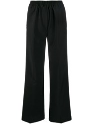 Acne Studios Straight Fit Trousers Black