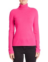 Lord And Taylor Cashmere Turtleneck Sweater Cosmopolitan Pink