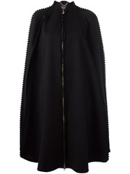 Salvatore Ferragamo Zipped Long Cape Black