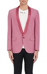 Saint Laurent Men's Single Button Tuxedo Jacket Red