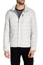 Kenneth Cole Packable Quilted Puffer Jacket Gray
