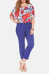 Eloquii 'Kady' Ankle Pants Plus Size Blue