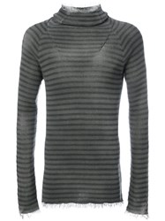 Lost And Found Ria Dunn Fitted Gradient Top Men Cotton S Grey