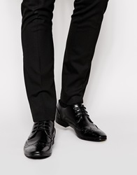 New Look Pointed Brogues Black