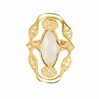 Neola Norresa Gold Ring With Aqua Chalcedony