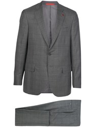 Isaia Single Breasted Check Suit 60