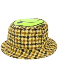Natasha Zinko Smiley Emoji Bucket Hat Yellow