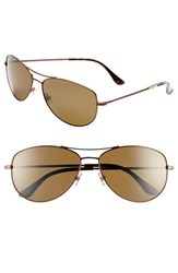 Women's Kate Spade New York 'Ally' 60Mm Polarized Metal Aviator Sunglasses Brown