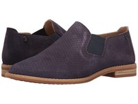 Hush Puppies Analise Clever Royal Navy Suede Perf Women's Slip On Dress Shoes