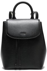 Dkny Woman Textured Leather Backpack Black