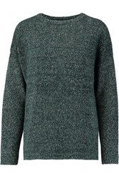 Etro Wool And Angora Blend Sweater Emerald