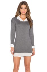 Central Park West Cambridge Layered Sweater Dress Gray