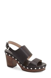 Women's French Connection 'Colette' Clog Sandal Black Leather