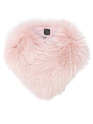 Mr And Mrs Italy Furry Collar Pink And Purple