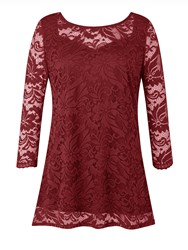 Grace Made In Britain Lace Tunic Red
